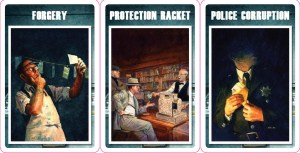 P.I. sample Crime cards