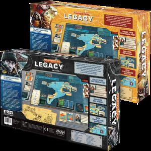 Pandemic Legacy: Season 2 - back of boxes