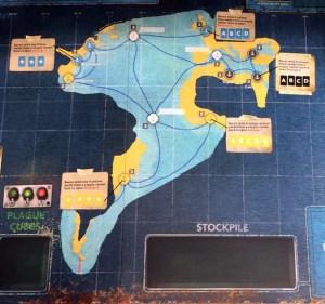 Pandemic Legacy: Season 2 - starting map