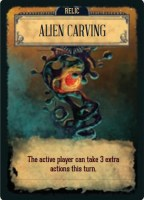 Pandemic: Reign of Cthulhu - sample Relic card