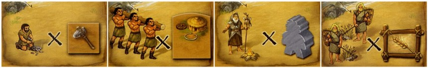 Stone Age multiplier icons on civilization cards
