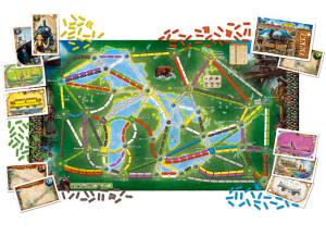 Ticket to Ride: Rails & Sails - Great Lakes map