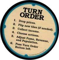 Vegas Showdown Dealer Button with Turn Order steps