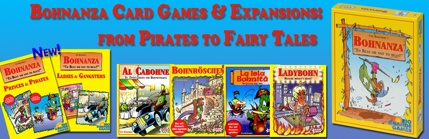 Bohnanza Card Games & Expansions - from Pirates to Fairy Tales