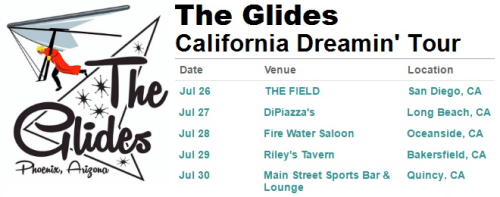 The Glides California Dreamin' Tour Schedule