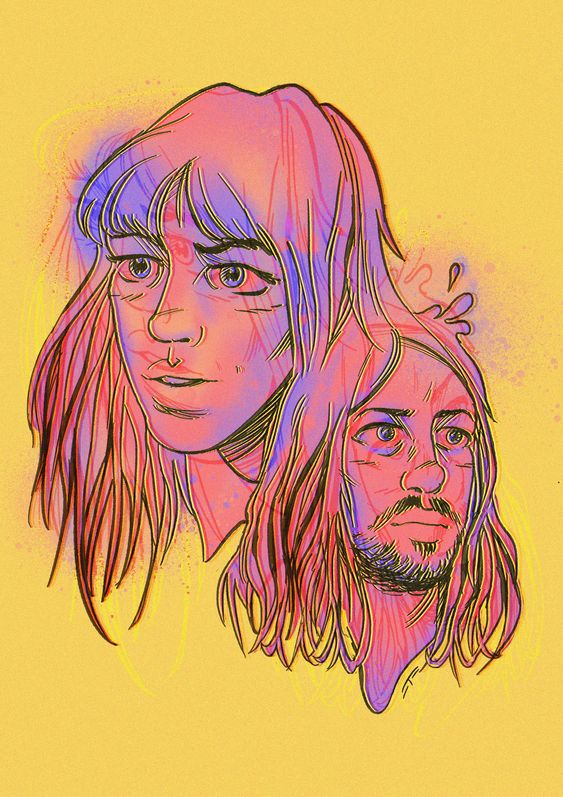 Tame Impala x Melody's Echo Chamber art designed for Cosmic (now The glitter & Gold) by TOM MAGEE