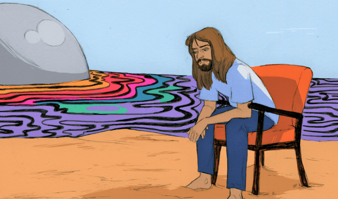Tame Impala Vincent Cecil art for Cosmic/The Glitter and Gold