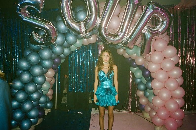 Olivia Rodrigo Sour Prom 2021 blue dress