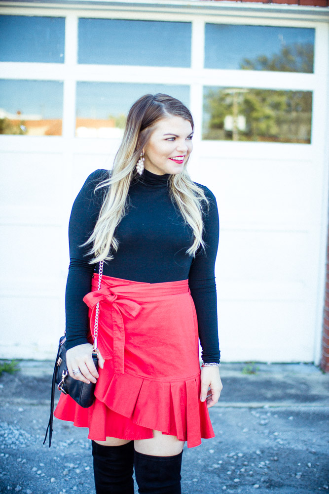 Easy Holiday Outfit with The Glitter Gospel, Holiday Outfit, The Glitter Gospel, Over the Knee Boots, Knoxville Blogger