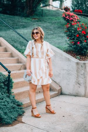 Go-To Summer outfitsYellow Sundress, Cognac Wedges, Oversized Sunglasses, Boho Style, Gingham top, White Jeans, Platform Espadrilles,, The Glitter Gospel. Tennessee Blogger
