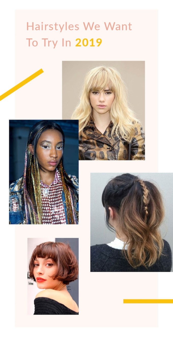 8 hairstyles we want to try in 2019 | glitter guide