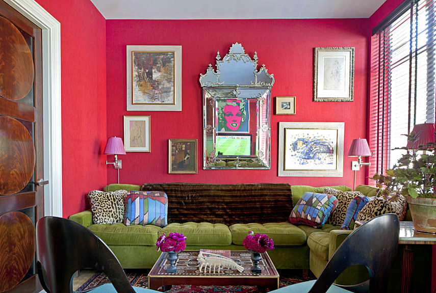10 Amazing Pink Living Room Interior Design Ideas