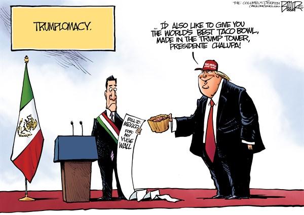 Trump visits Mexico