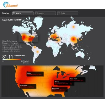 U.S. Web Attacks Skyrocket Ahead of Mid East Action: 81% Above Normal *Real Time Heat Map*