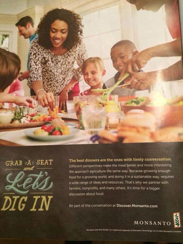 Monsanto advertisement that appeared in Oprah's 'O' magazine.