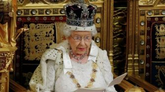 Queen Speaks on Broken System, While Sitting on Golden Throne