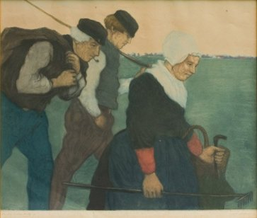 'Farming_family',_c._1910,_hand-embellished_aquatint_by_Charles_Bartlett
