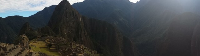 Panorama of Machu Picchu