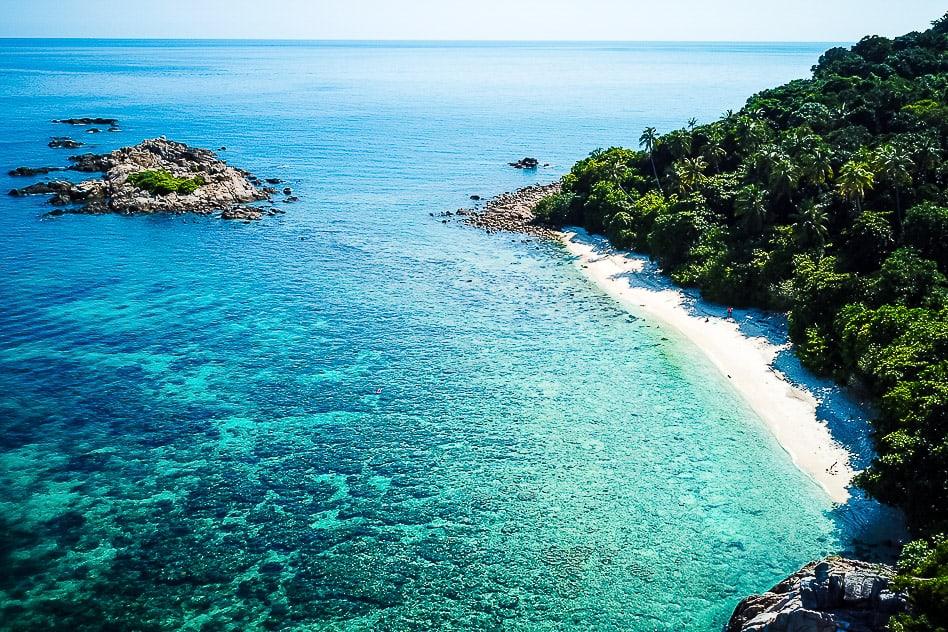 Turtle Beach Perhentian Kecil Malaysia Drone