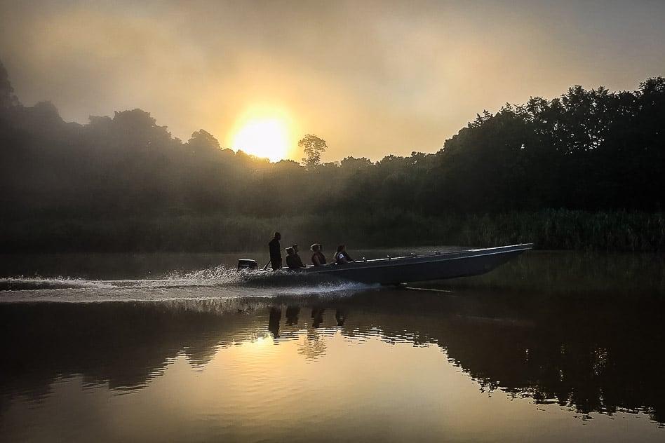 Kinabatagnan river Sunrise Borneo Boat