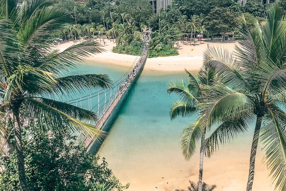 Siloso Beach Bridge Sentosa Island Singapore