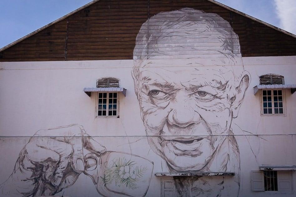 Old Man Uncle Coffee Street Art Ipoh Malaysia