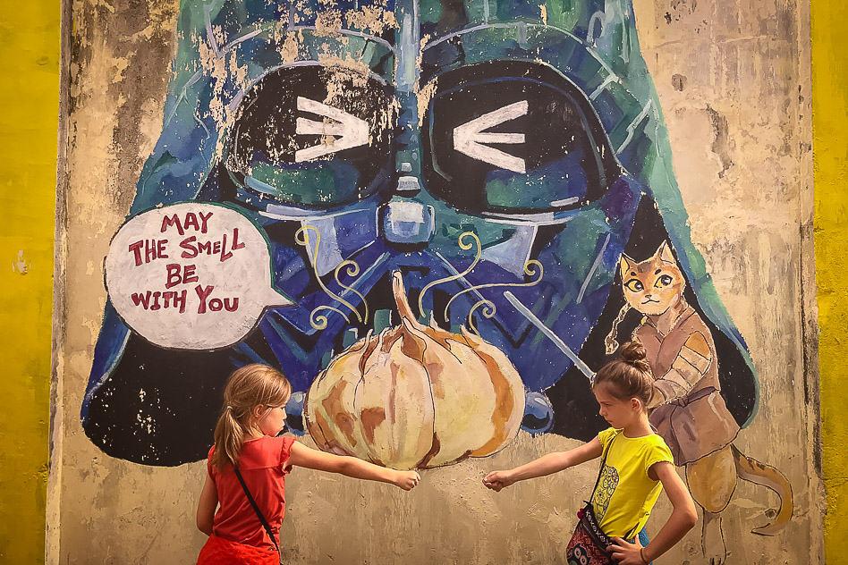 Star Wars Street Art Darth Vader. Ipoh Malaysia Fun