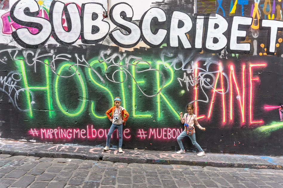 Hosier Lane Street Art Melbourne Kids