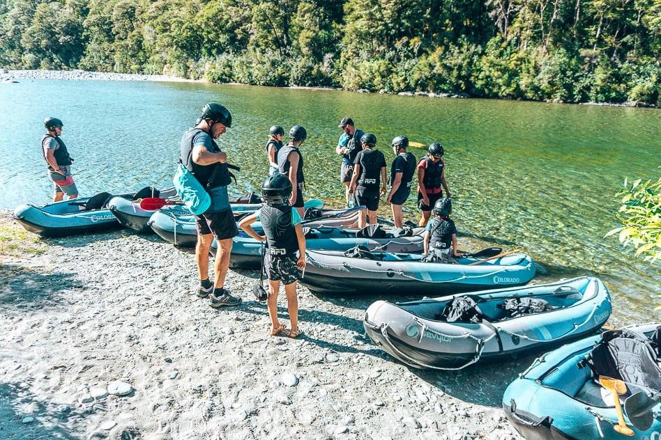 Safety Briefing Kayak Trip Pelorus Eco Adventures