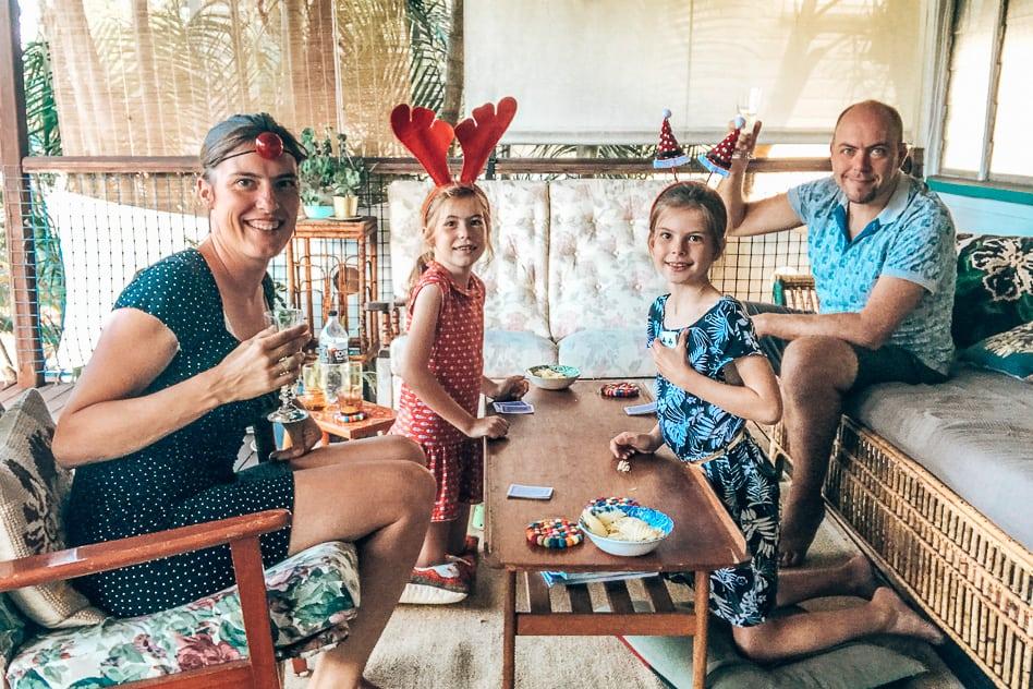 Celebrating Christmas with our kids housesitting in Brisbane Australia
