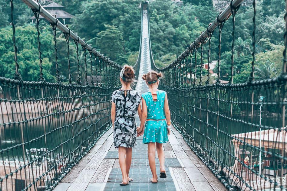 Hanging Bridge Sunway Lagoon Theme Park