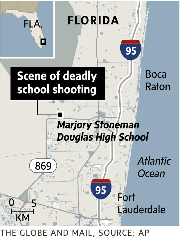 Parkland Florida Map : parkland, florida, Florida, School, Shooting:, Globe