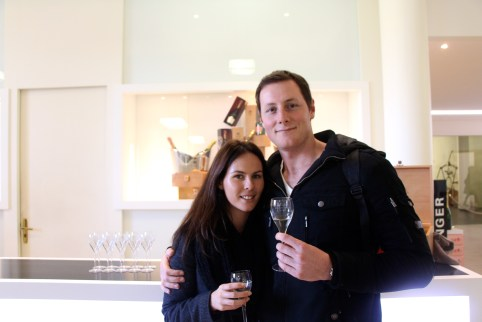 Us, with our tasters at Taittinger.