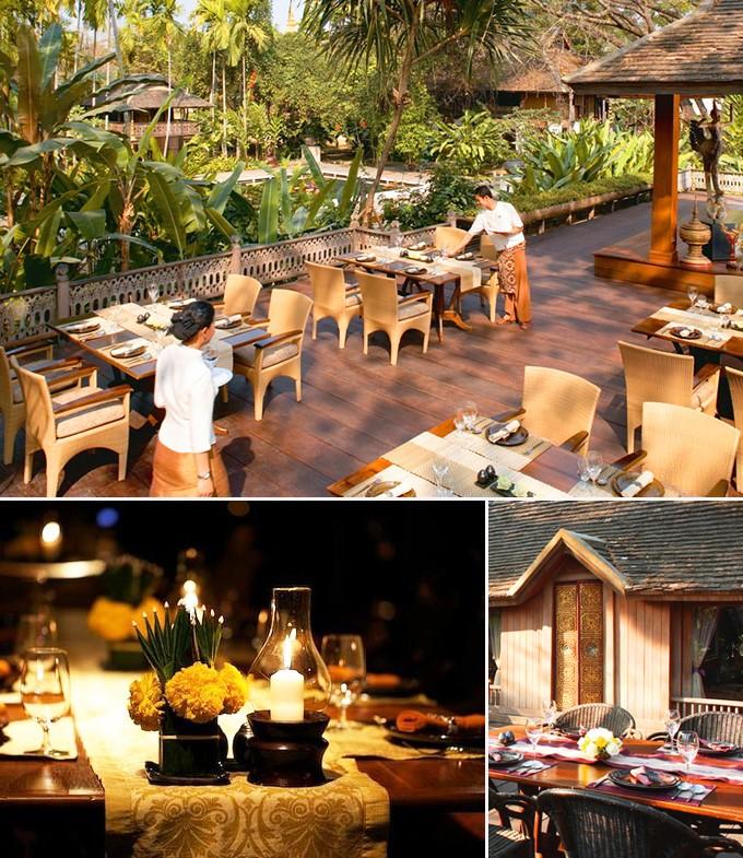Trois restaurants en Thaïlande
