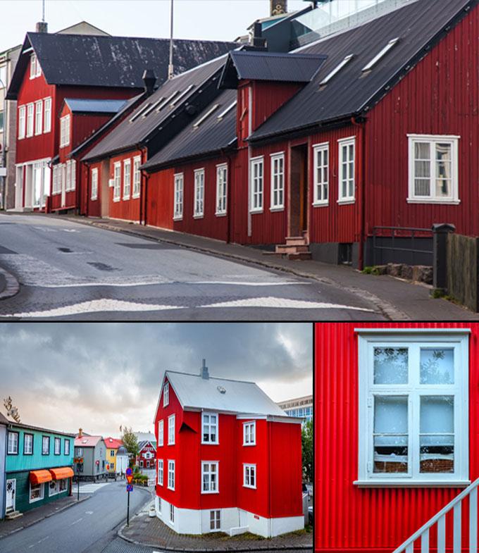 maison colorés Reykjavik à voir