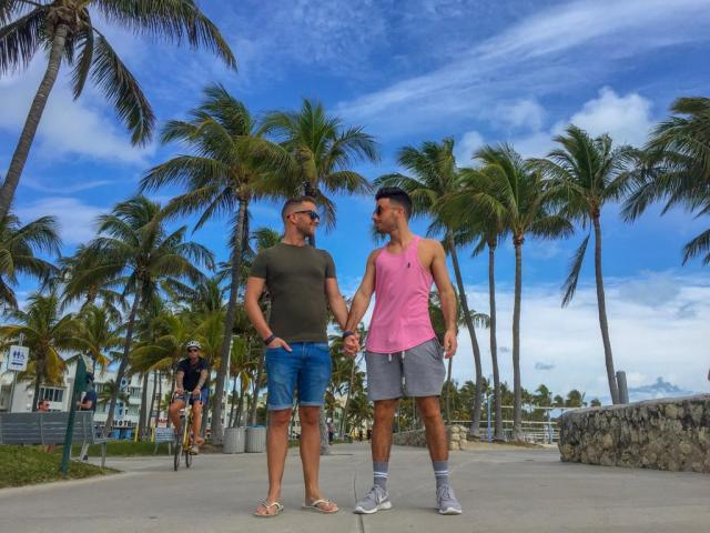 Miami Beach in particular is the lovers lane of gay