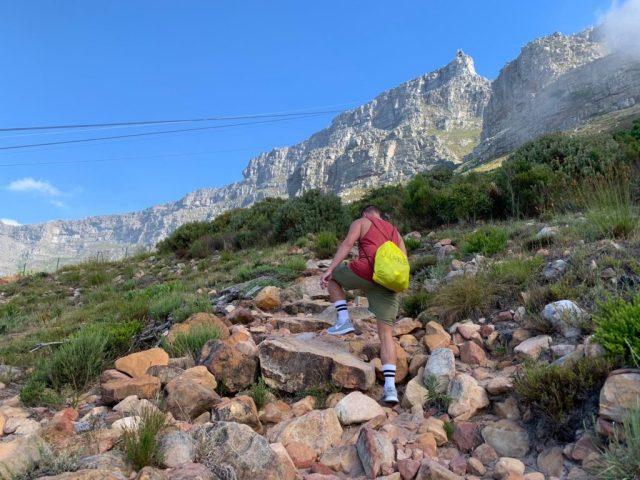 hiking Platteklip gorge table mountain