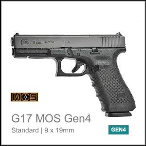 Glock 17 Gen 4 MOS 9 x 19mm pistol reflex sight red dot
