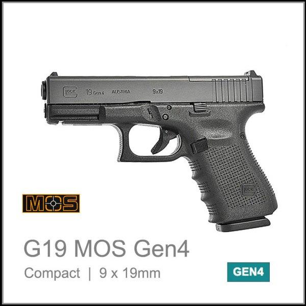 Glock 19 Gen 4 MOS Reflex sight ready compact 9mm pistol