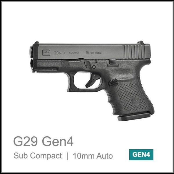 Glock 29 Gen 4 10mm auto sub compact semi auto pistol black