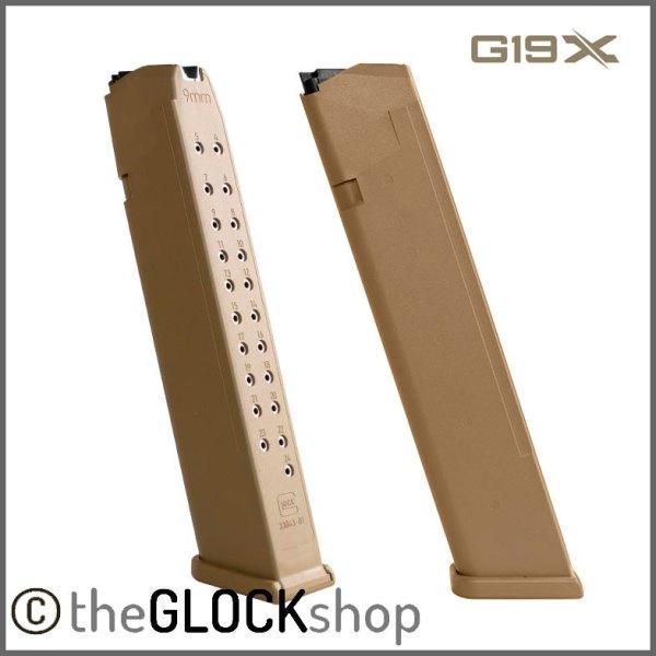 Glock 19X 24 Round Magazine Coyote Color