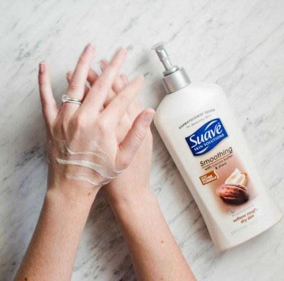 suave hand massage