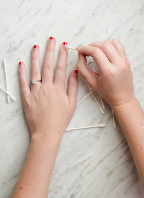 triangle nail art cleanup
