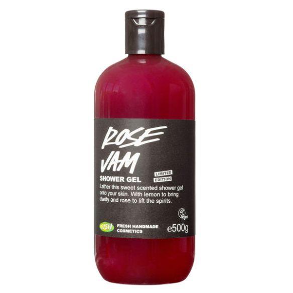 lush rose jam shower gel