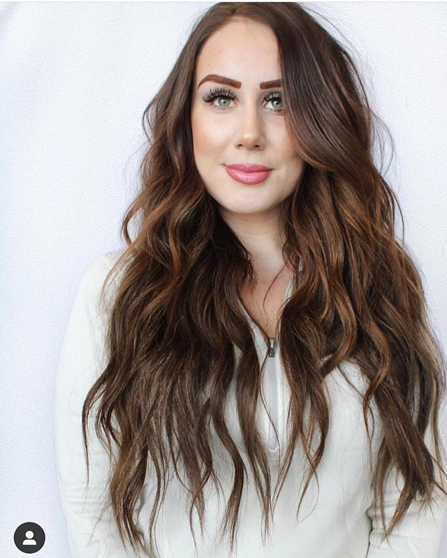 Go full glam.  Because seriously you're hot and life is short // 3 rows of NBR extensions . . Apply for your free consultation with one of our certified NBR artists at NBRkc.com