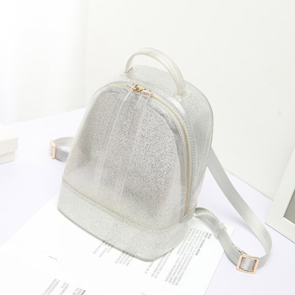 Silver Backpack Cute Clear Jelly Bags