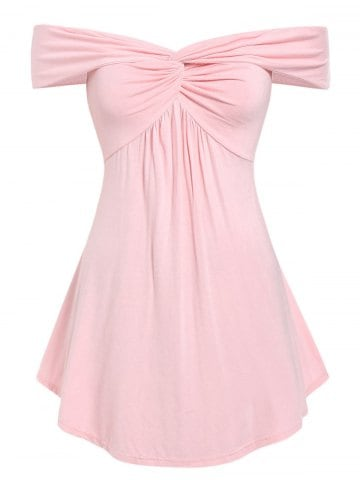 pink off the shoulder top