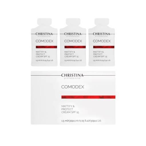 Купить Матирующий защитный крем SPF 15 Comodex Mattify & Protect (саше)