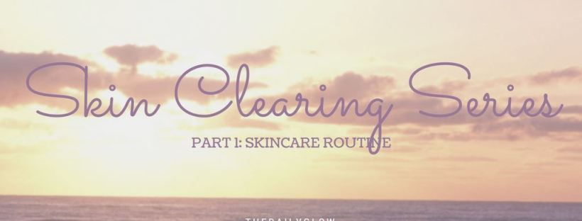 skin clearing series - skincare routine