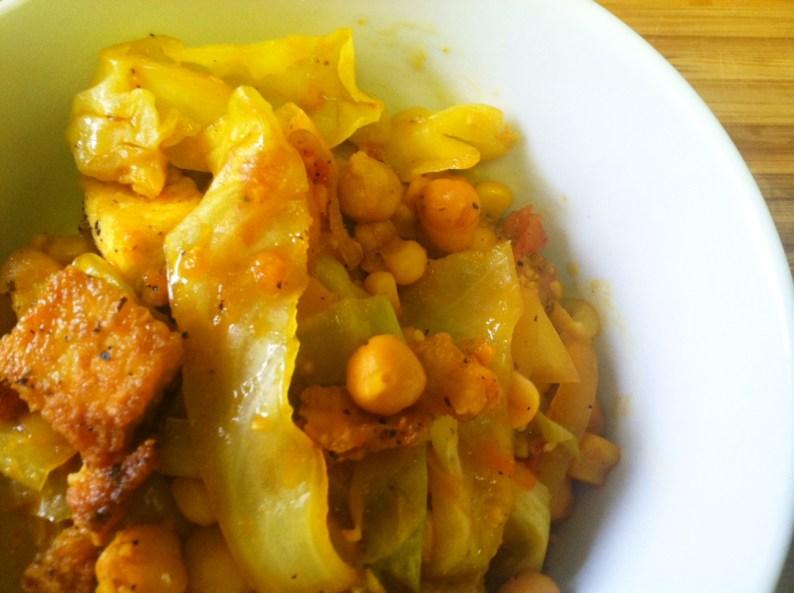 Tomato Cabbage Stir Fry II